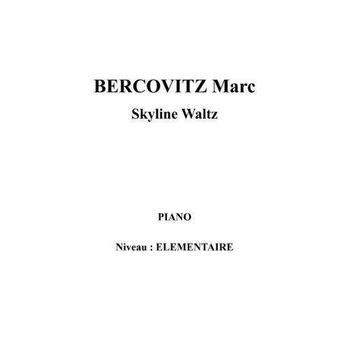 IPE MUSIC BERCOVITZ MARC - SKYLINE WALTZ - PIANO