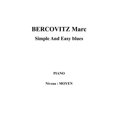 IPE MUSIC BERCOVITZ MARC - SIMPLE AND EASY BLUES - PIANO