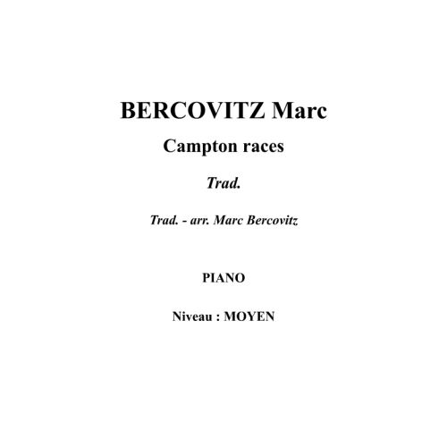IPE MUSIC BERCOVITZ MARC - CAMPTON RACES - PIANO