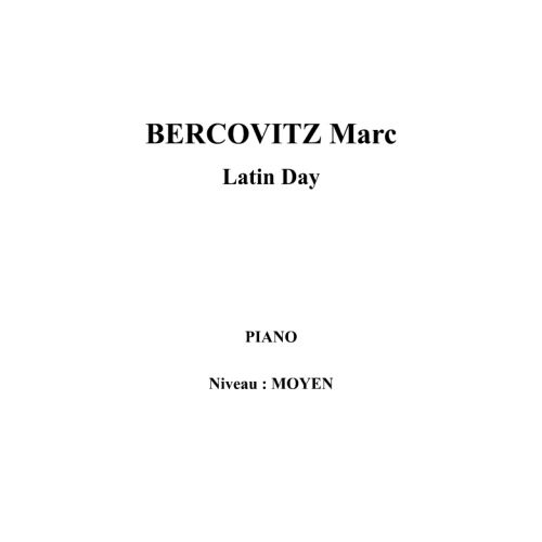 IPE MUSIC BERCOVITZ MARC - LATIN DAY - PIANO