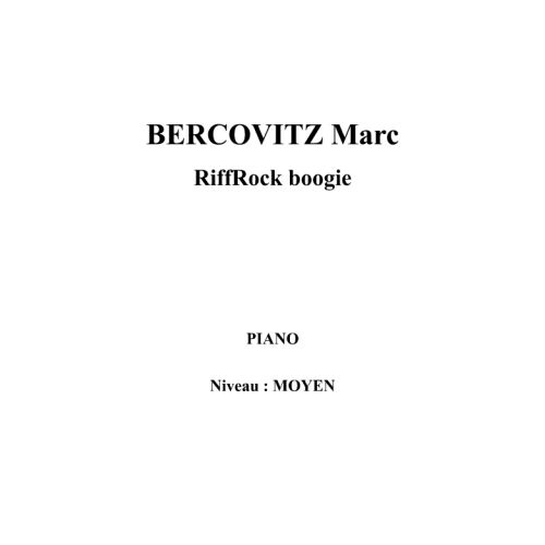 IPE MUSIC BERCOVITZ MARC - RIFFROCK BOOGIE - PIANO