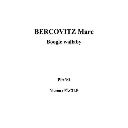 IPE MUSIC BERCOVITZ MARC - BOOGIE WALLABY - PIANO