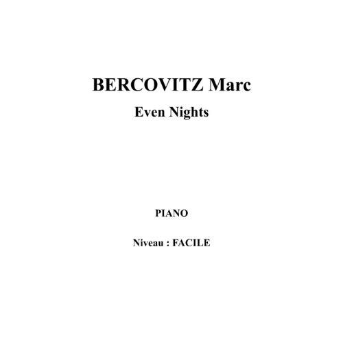 IPE MUSIC BERCOVITZ MARC - EVEN NIGHTS - PIANO
