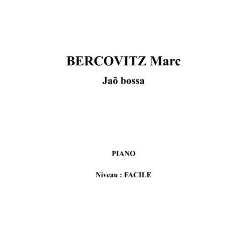 IPE MUSIC BERCOVITZ MARC - JAO BOSSA - PIANO