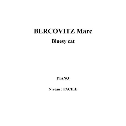 IPE MUSIC BERCOVITZ MARC - BLUESY CAT - PIANO