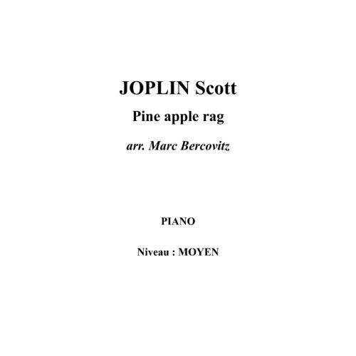 IPE MUSIC JOPLIN SCOTT - PINE APPLE RAG - PIANO