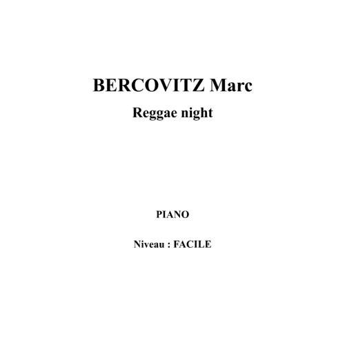 IPE MUSIC BERCOVITZ MARC - REGGAE NIGHT - PIANO
