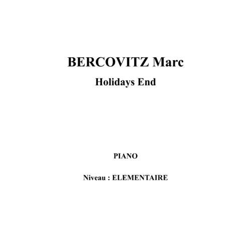 IPE MUSIC BERCOVITZ MARC - HOLIDAYS END - PIANO