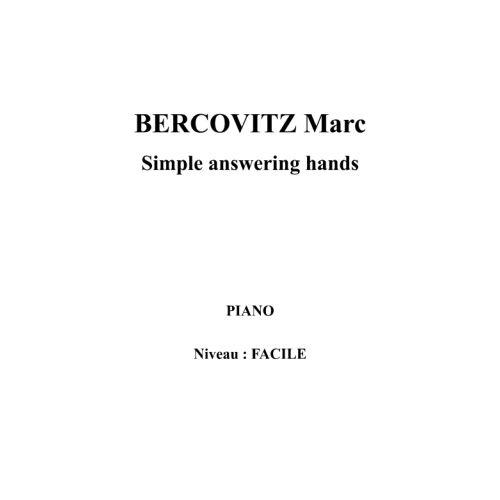 IPE MUSIC BERCOVITZ MARC - SIMPLE ANSWERING HANDS - PIANO