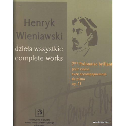PWM WIENIAWSKI H. - 2EME POLONAISE BRILLANTE OP. 21 - VIOLON ET PIANO
