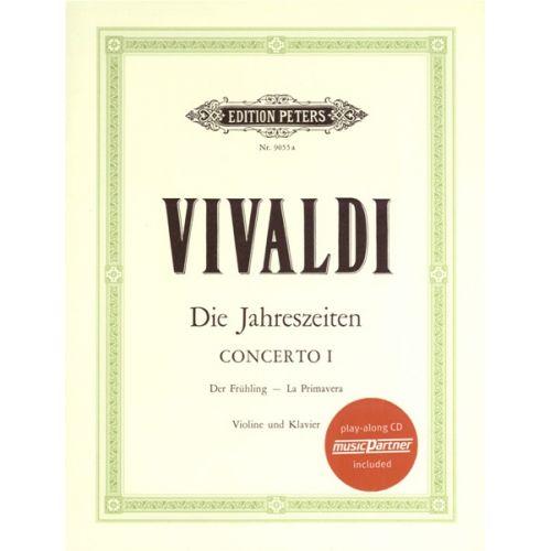EDITION PETERS VIVALDI ANTONIO - THE 4 SEASONS OP.8 NOS.1-4 + CD - VIOLIN AND PIANO