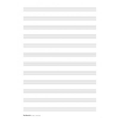 PAUL BEUSCHER PUBLICATIONS PAPIER MUSIQUE 12 PORTEES (5 FEUILLES)