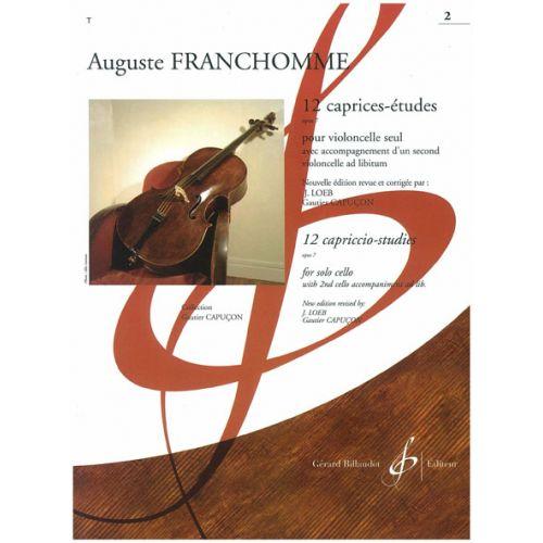 BILLAUDOT FRANCHOMME AUGUST - 12 CAPRICES-ETUDES OP.7 POUR VIOLONCELLE SEUL VOL.1
