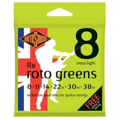 ROTOSOUND ROTO GREENS EXTRA LIGHT 8 11 14 22 30 38