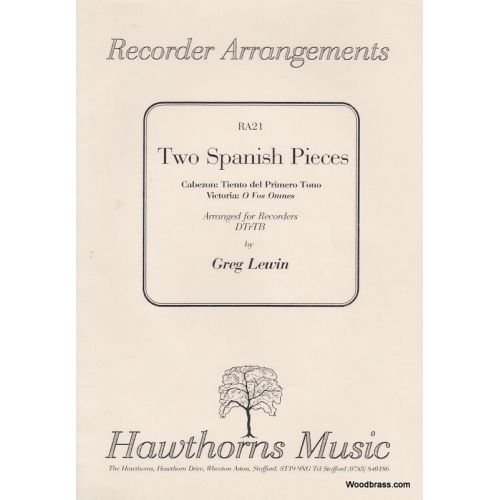 HAWTHORNS MUSIC TWO SPANISH PIECES - 4 FLUTES A BEC