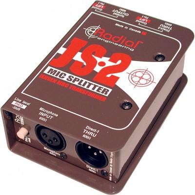 RADIAL JS2 MIC LEVEL SPLITTER