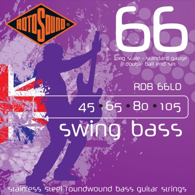 ROTOSOUND SWING BASS STAINLESS STEEL DOUBLE BOULES 45-105