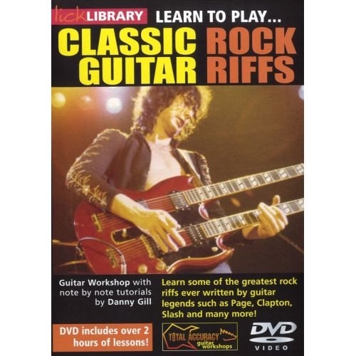ROADROCK INTERNATIONAL LICK LIBRARY - 20 CLASSIC ROCK RIFFS [DVD] - GUITAR