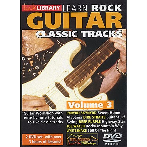 ROADROCK INTERNATIONAL LICK LIBRARY - LEARN TO PLAY CLASSIC ROCK TRACKS - VOLUME 3 [DVD] - GUITAR