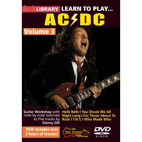ROADROCK INTERNATIONAL LICK LIBRARY - LEARN TO PLAY AC/DC - VOLUME 3 [DVD] - GUITAR