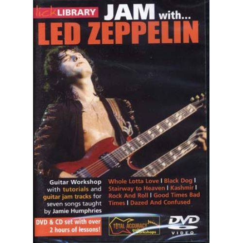 ROADROCK INTERNATIONAL TUITION BOOK DVD - LICK LIBRARY JAM WITH LED ZEPPELIN DVD + CD