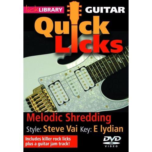 ROADROCK INTERNATIONAL LICK LIBRARY - QUICK LICKS FOR GUITAR - STEVE VAI MELODIC SHREDDING [DVD] [2008] - GUITAR
