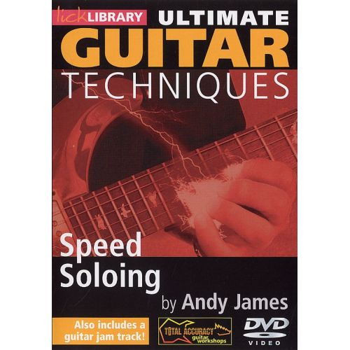 ROADROCK INTERNATIONAL LICK LIBRARY - ULTIMATE GUITAR TECHNIQUES - SPEED SOLOING [DVD] [2009] - GUITAR