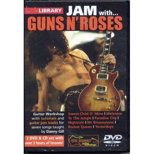 ROADROCK INTERNATIONAL DVD LICK LIBRARY JAM WITH GUNS N' ROSES