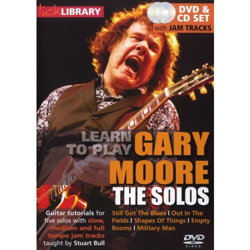 ROADROCK INTERNATIONAL LICK LIBRARY LEARN TO PLAY MOORE GARY THE SOLOS CD/DVD - GUITARE