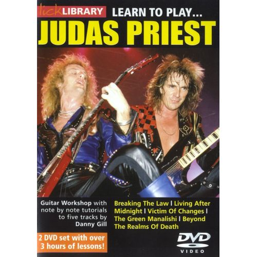 ROADROCK INTERNATIONAL LICK LIBRARY - LEARN TO PLAY JUDAS PRIEST [DVD] - GUITAR