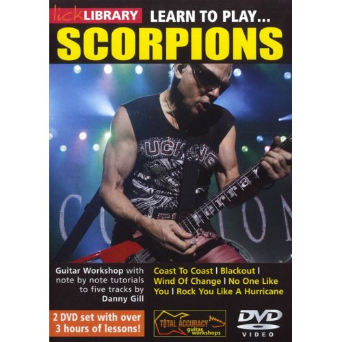 ROADROCK INTERNATIONAL LICK LIBRARY LEARN TO PLAY SCORPIONS 2 DVD - GUITARE