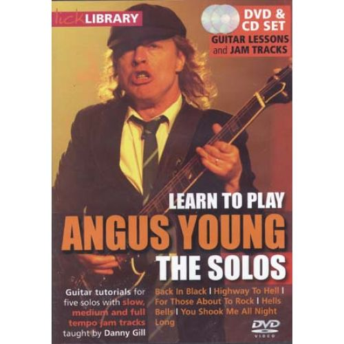 ROADROCK INTERNATIONAL LICK LIBRARY LEARN TO PLAY ANGUS YOUNG THE SOLOS - GUITARE