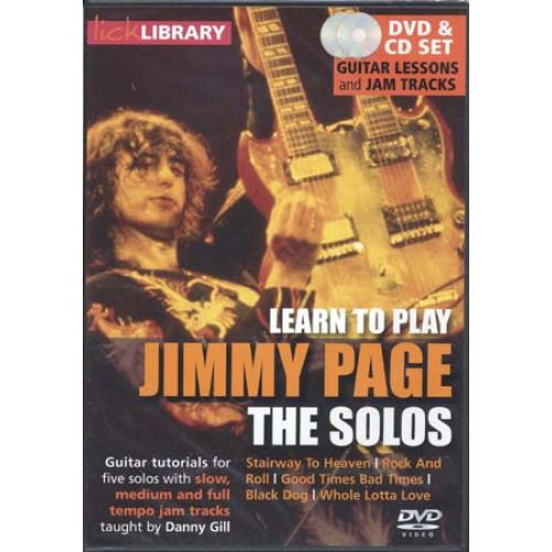 ROADROCK INTERNATIONAL LICK LIBRARY LEARN TO PLAY JIMMY PAGE THE SOLOS - GUITARE