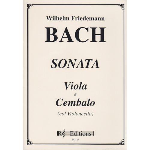 WALHALL BACH WILHELM FRIEDEMANN - SONATA - VIOLA E CEMBALO (COL VIOLONCELLO)