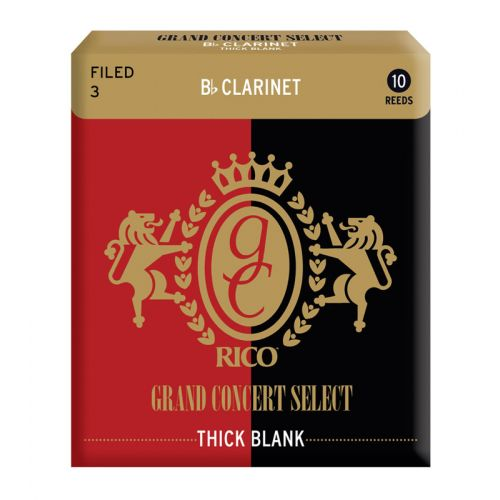 D'ADDARIO - RICO RICO GRAND CONCERT SELECT THICK BLANK BB CLARINET REEDS 3