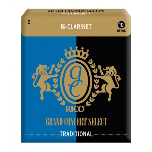 D'ADDARIO - RICO GRAND CONCERT SELECT TRADITIONAL BB-KLARINETTENBLÄTTER STÄRKE 20 10ER-PACKUNG