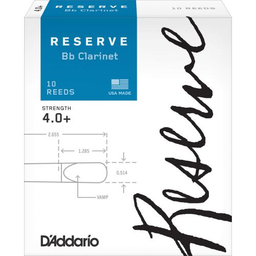 D'ADDARIO - RICO RICO BY D'ADDARIO WOODWINDS RESERVE BB CLARINET REEDS 4+