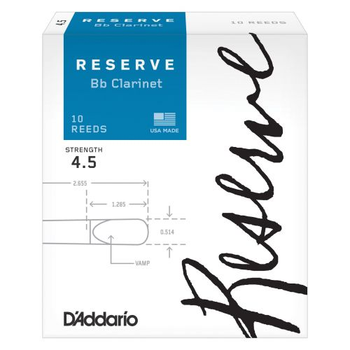 D'ADDARIO - RICO RICO BY D'ADDARIO WOODWINDS RESERVE BB CLARINET REEDS 4.5