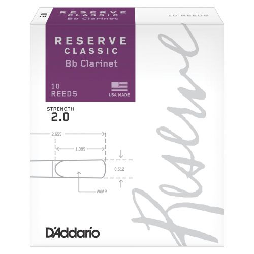 D'ADDARIO - RICO RICO BY D'ADDARIO WOODWINDS RESERVE BB CLARINET REEDS 2