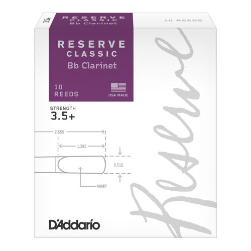 D'ADDARIO - RICO RICO BY D'ADDARIO WOODWINDS RESERVE BB CLARINET REEDS 3.5+