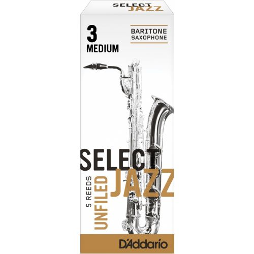 D'ADDARIO - RICO SELECT JAZZ UNFILED BARITONE 3M
