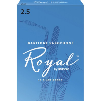 D'ADDARIO - RICO ROYAL BARITONE SAXOPHONE REEDS 2.5