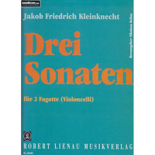 ROBERT LIENAU MUSIKVERLAG KLEINKNECHT J. F. - 3 SONATE FÜR 2 FAGOTTE