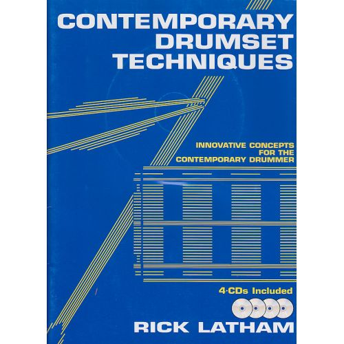 ALFRED PUBLISHING LATHAM RICK - CONTEMPORARY DRUMSET TECHNIQUES + 4CD - DRUM