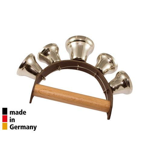 ROHEMA LEATHER HANDLE WITH 5 OPEN BELLS - 3+