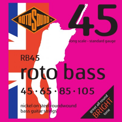 ROTOSOUND ROTO BASS RB45 NICKEL (UNSILKED) 45105