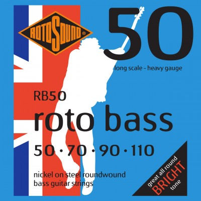 ROTOSOUND ROTO BASS RB50 NICKEL (UNSILKED) 50110