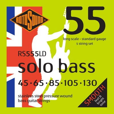 ROTOSOUND SOLO BASS 55 RS555LD LINEA PRESSURE WOUND 5 STRING 45130
