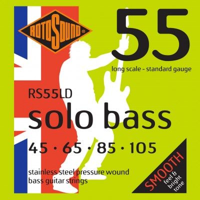 ROTOSOUND SOLO BASS 55 RS55LD LINEA PRESSURE WOUND 45105