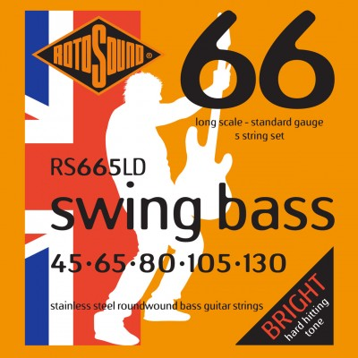 ROTOSOUND SWING BASS 66 RS665LD STAINLESS STEEL 5 STRING 45130